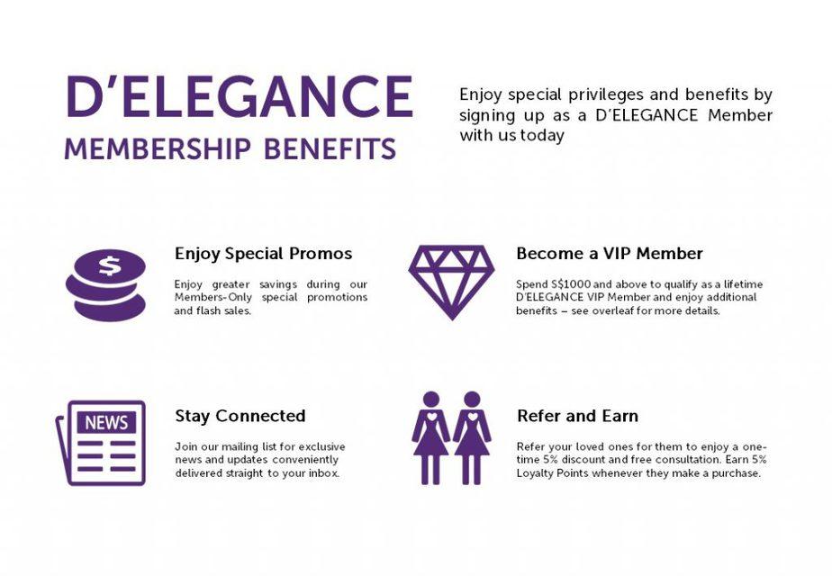 D'Elegance Member Benefits